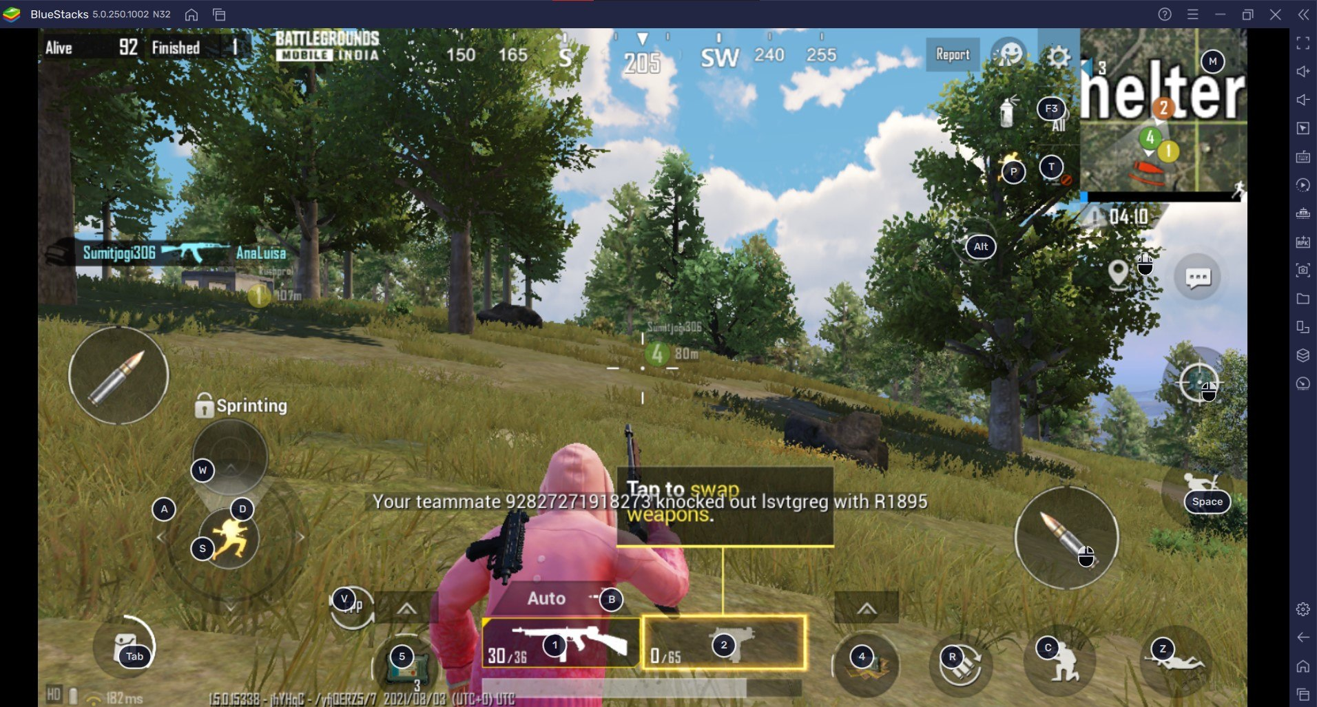 BGMI on PC: BlueStacks List of Best Guns in Battlegrounds Mobile India