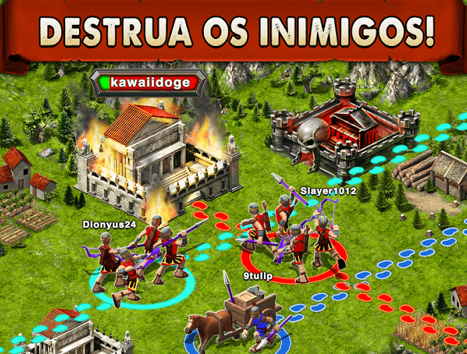 Jogue Game of War on pc 6