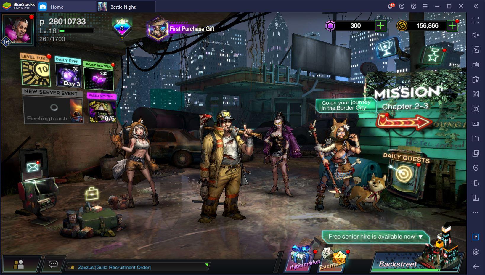 Battle Night: Cyber Squad – wie du dieses Gacha-RPG mit Cyberpunkthema auf BlueStacks installierst und spielst