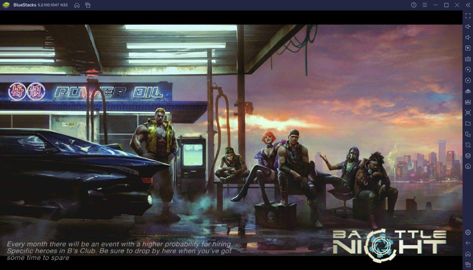 BlueStacks' Leitfaden zu Helden in Battle Night: Cyberpunk-Idle RPG