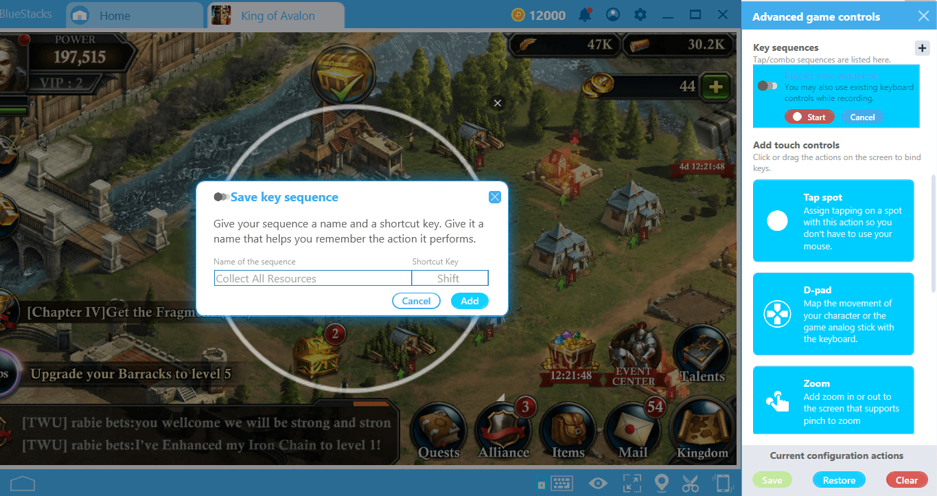Combo Key on BlueStacks 4 2: Record and Replay an Action