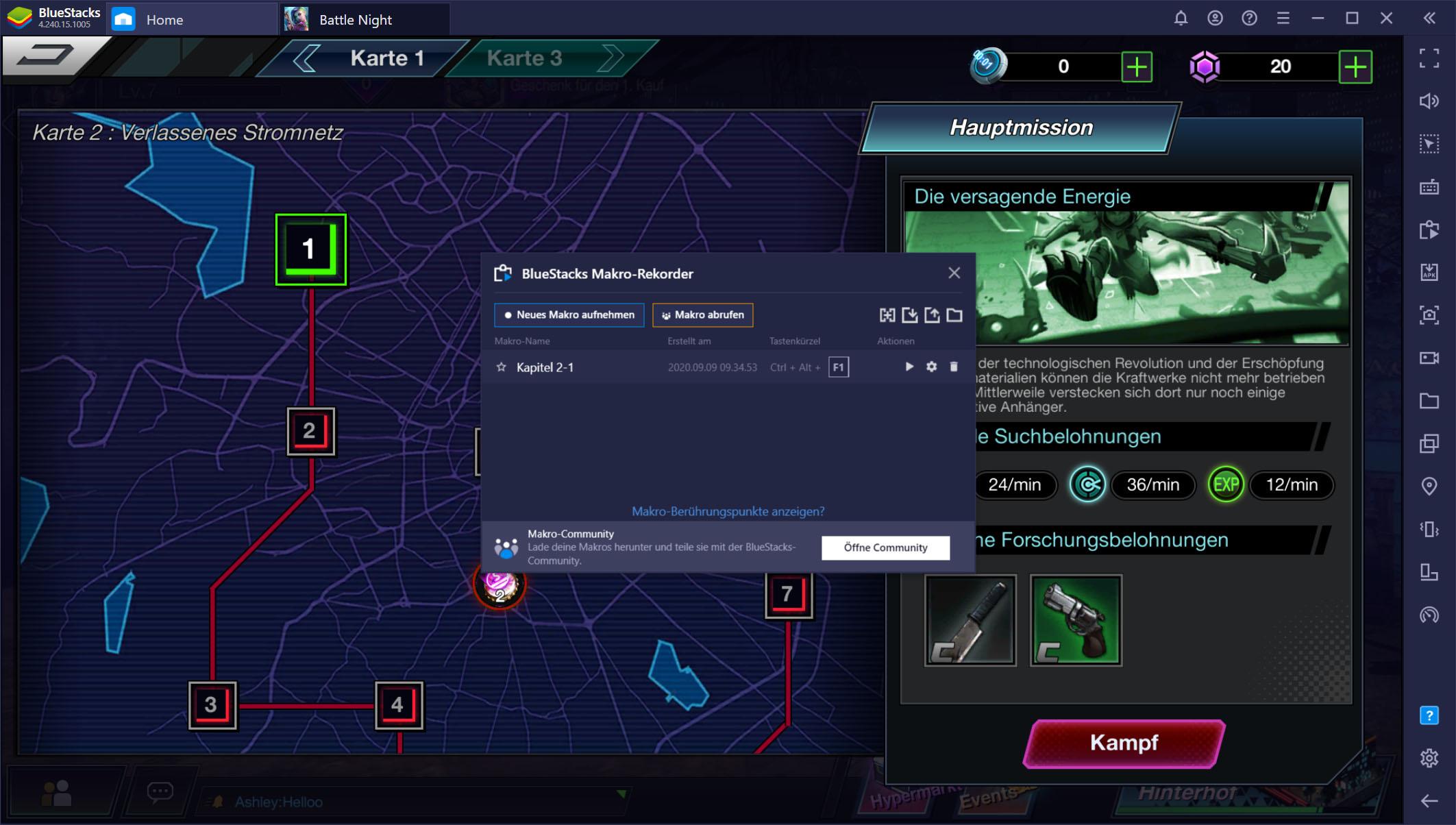 Battle Night: Cyber Squad – Verwende unsere BlueStacks-Werkzeuge, um deine Feinde Runde für Runde zu besiegen