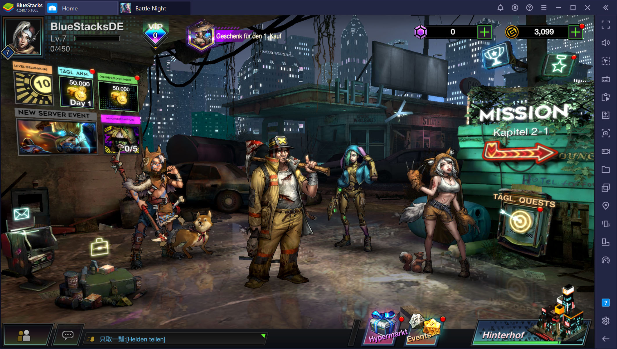 Battle Night: Cyber Squad – So installierst und spielst du dieses Cyberpunk-Gacha-Rollenspiel mit BlueStacks