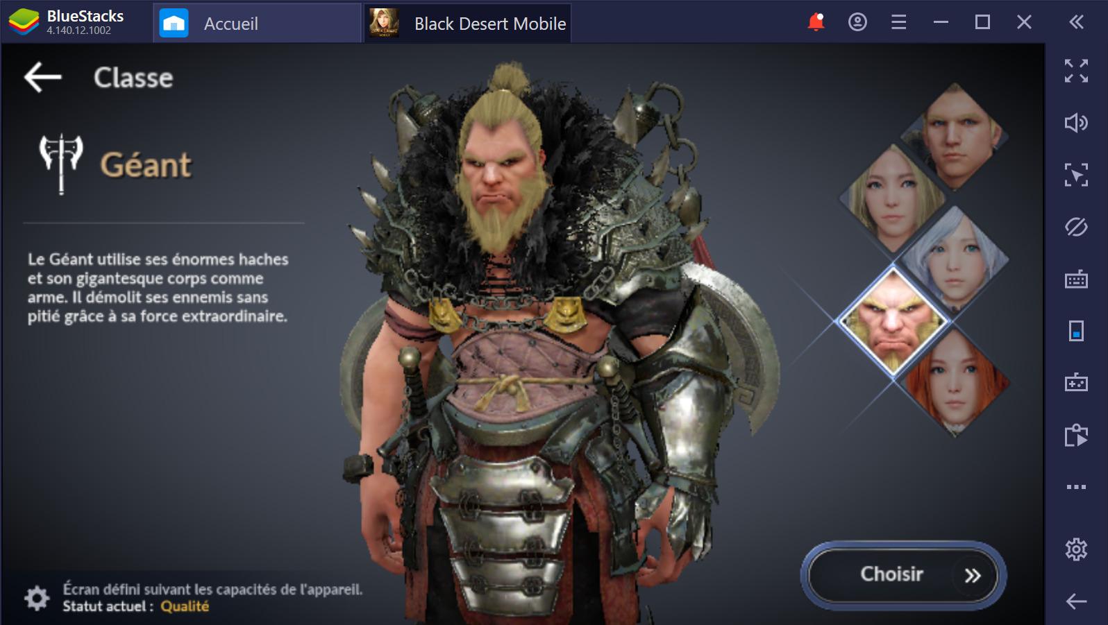 Black Desert Mobile sur PC : Quelle classe choisir ?