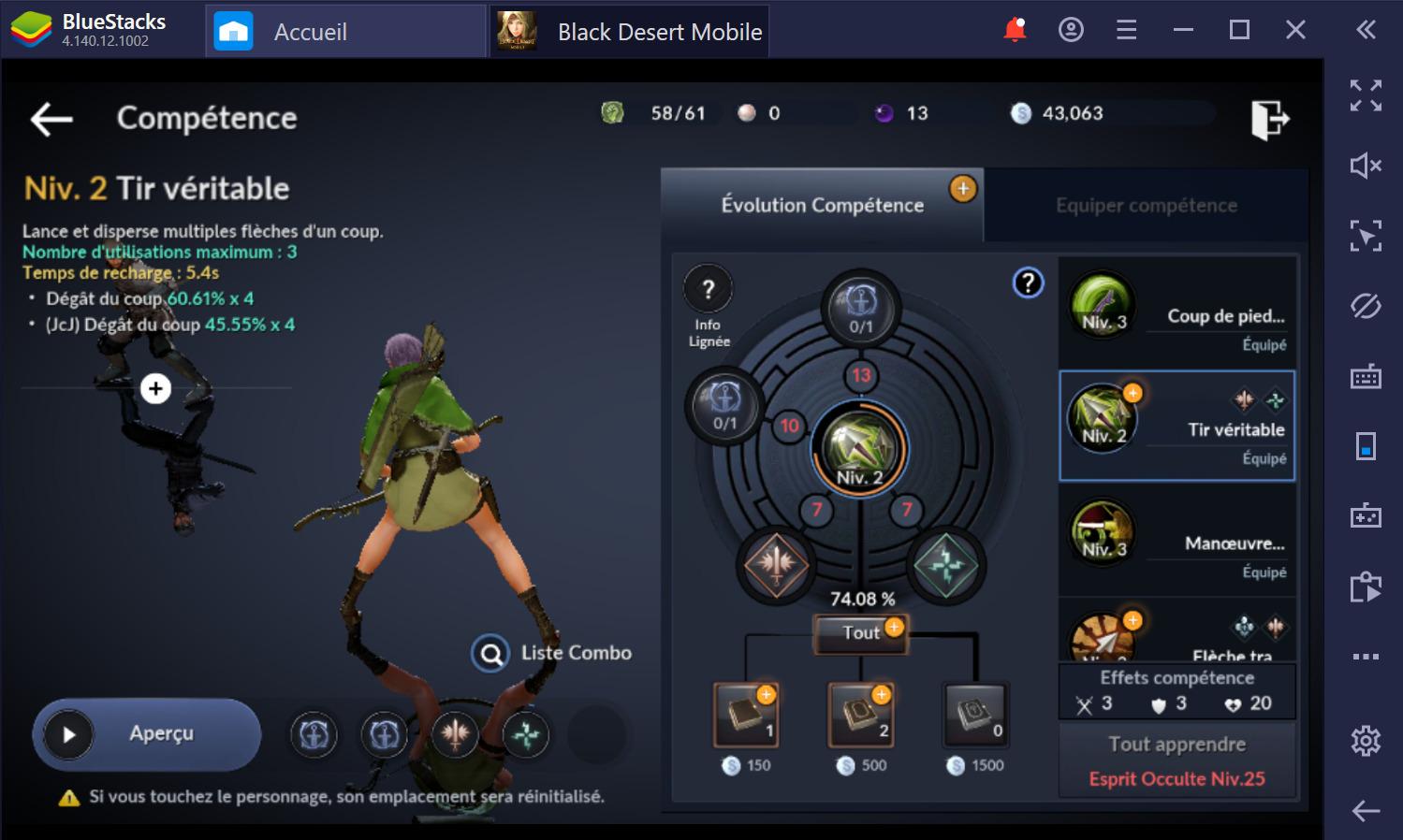 Black Desert Mobile sur PC: Comment monter rapidement en niveau