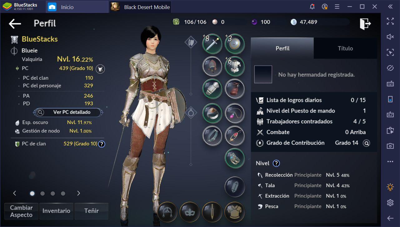 Black Desert Mobile en PC - La Guía Completa Para Mejorar a tus Personajes