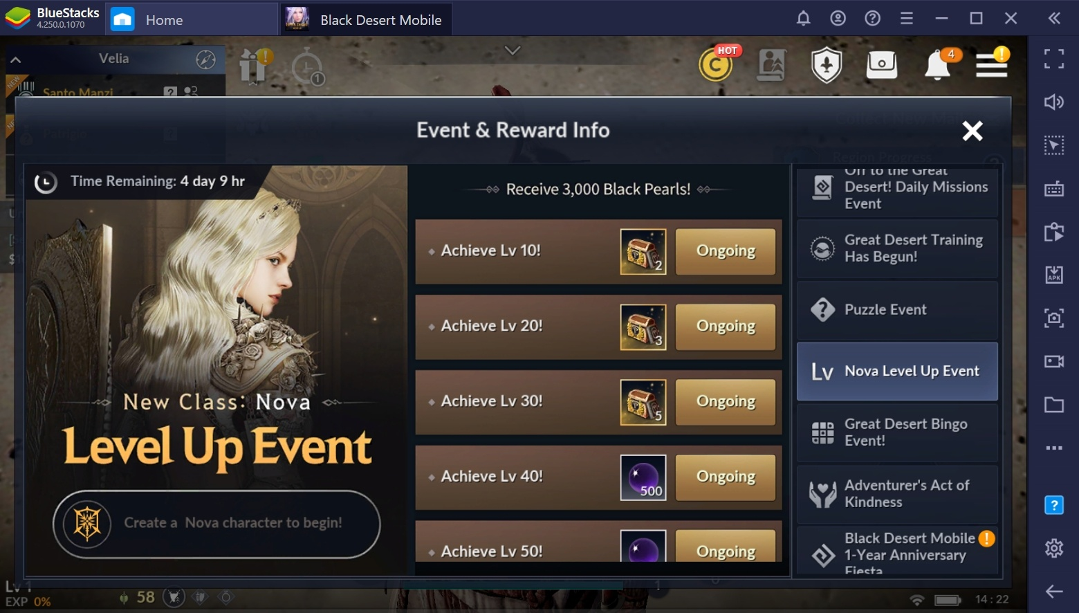 Black Desert Mobile on PC – Awakening and Succession Forms of the 'Nova' Class