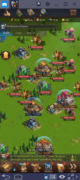 Mecânica de Combate em Blaze of Battle