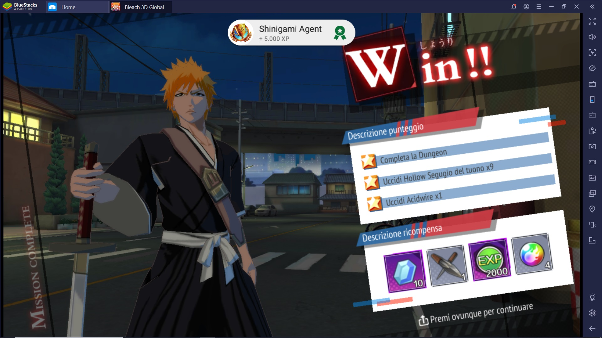 Come giocare a BLEACH Mobile 3D su PC con BlueStacks
