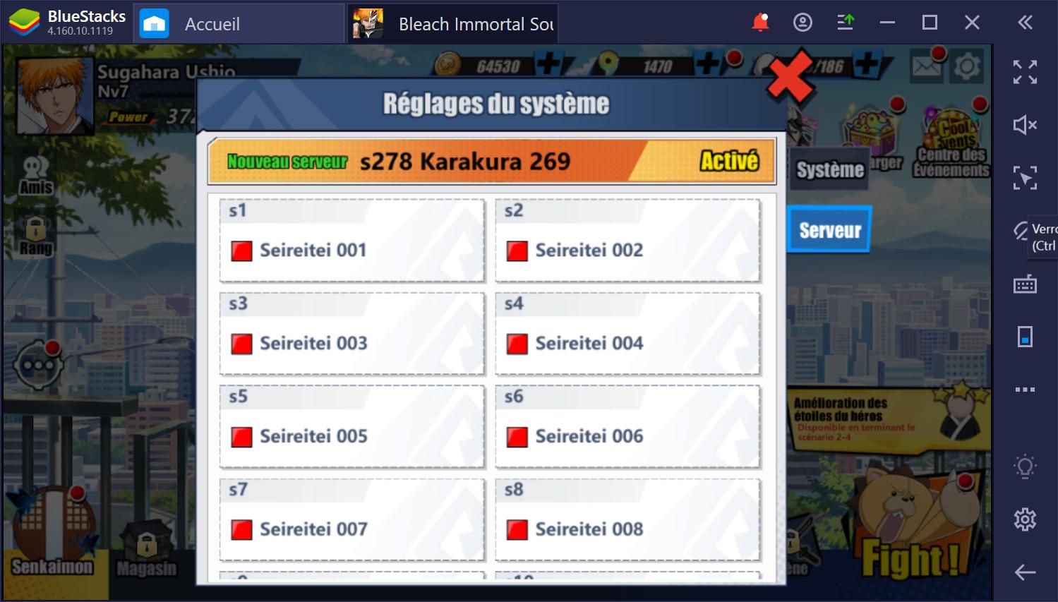 Comment faire du reroll dans Bleach Immortal Soul sur PC