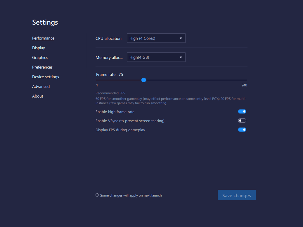 Une expérience gaming hors du comment : Le nouveau Mode économique, l'option vol long-courrier et le Verrouillage de FPS sont sur BlueStacks 5