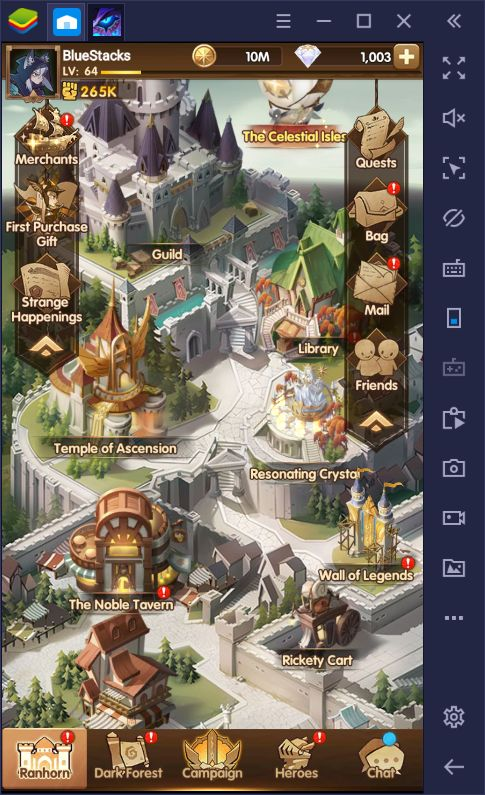 BlueStacks Macros for AFK Arena