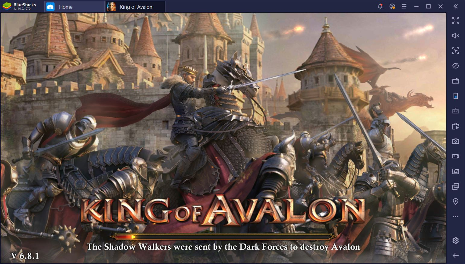 BlueStacks Macros for King of Avalon on PC