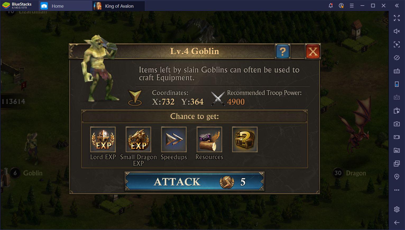 BlueStacks Macros for King of Avalon on PC