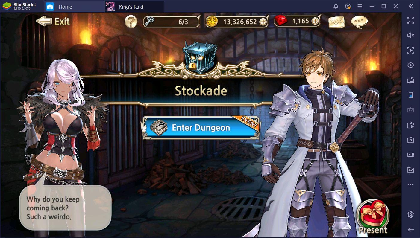 BlueStacks Macros for King's Raid on PC