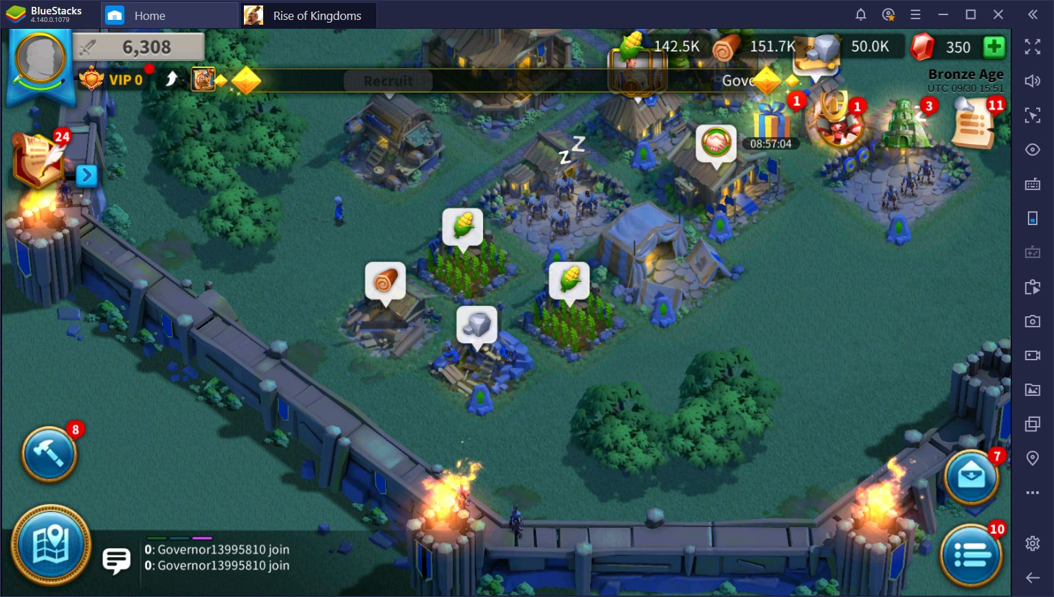 BlueStacks Macros for Rise of Kingdoms