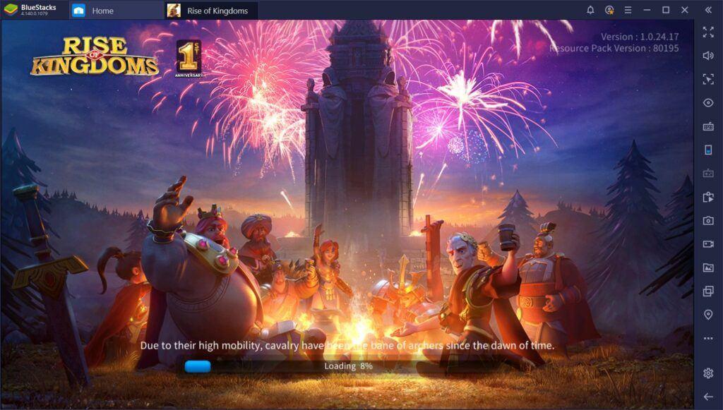 Tự động hóa hành động khi chơi Rise of Kingdoms trên PC với Macro của BlueStacks