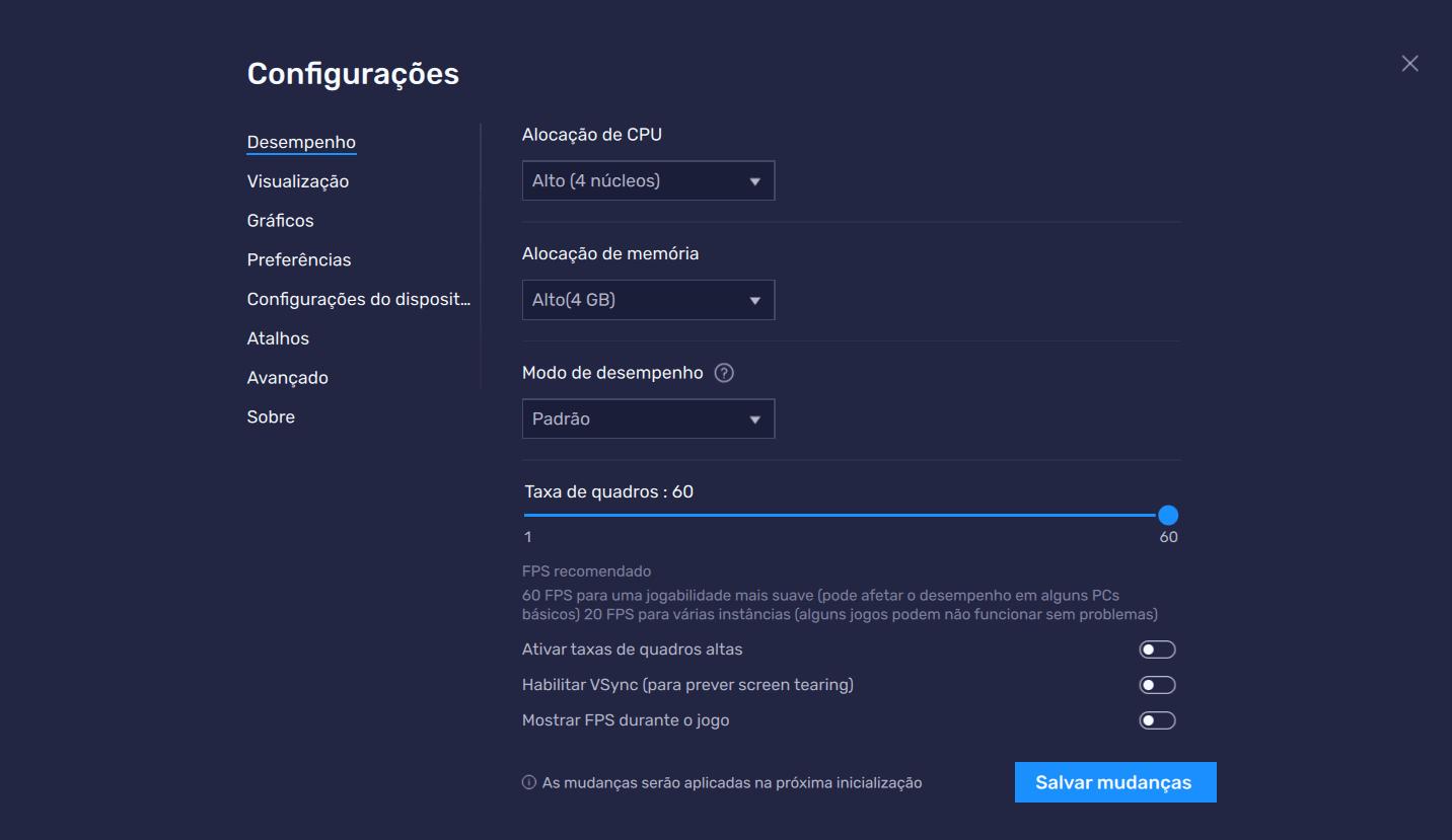 A atualização do BlueStacks 5.1.100 apresenta o novo recurso de 'Modo de Desempenho'