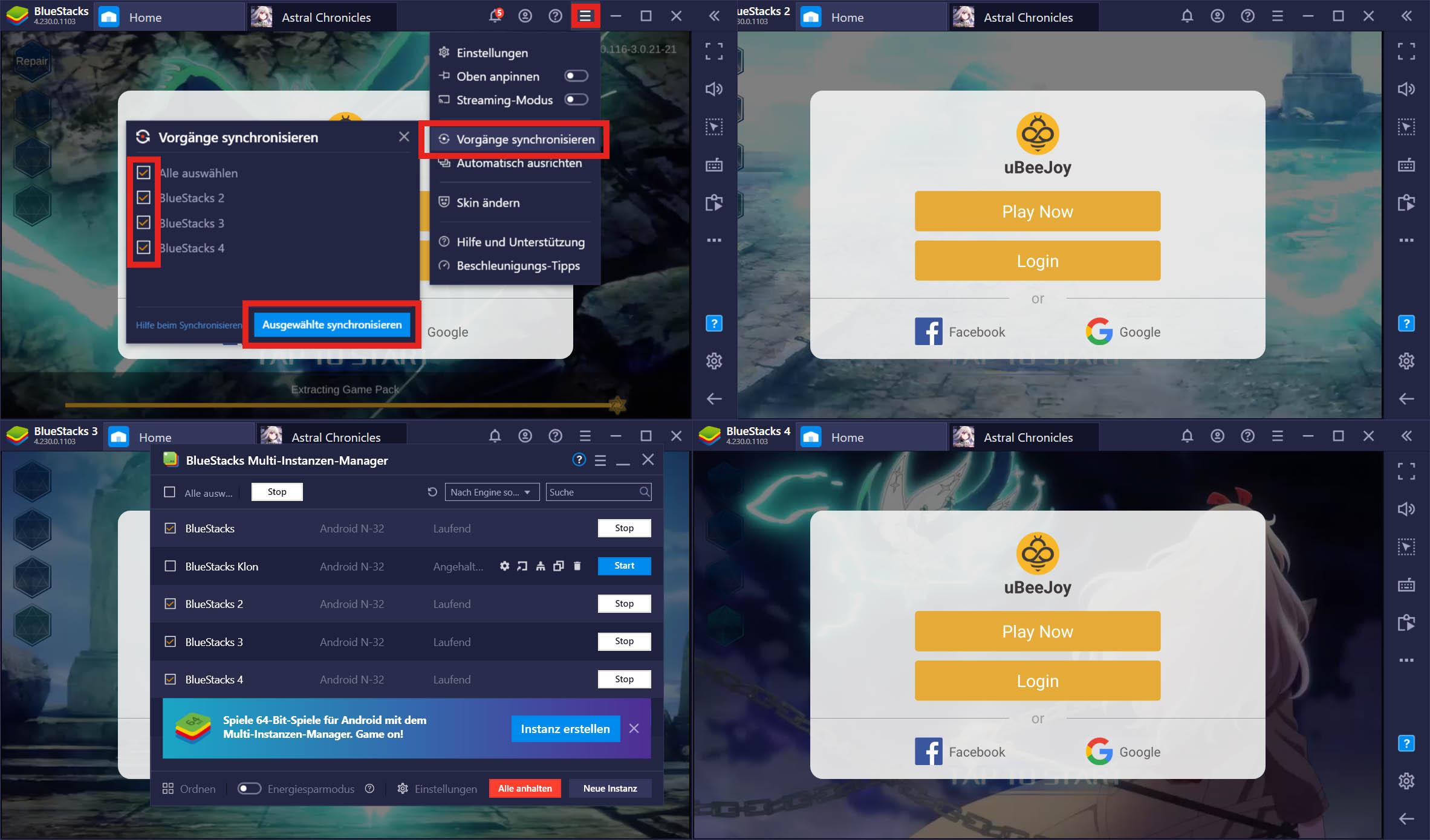 BlueStacks Features: Meisterhaftes Gameplay mit Multi-Instanz-Synchronisierung