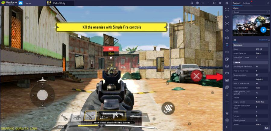 Обновленное окно игрового управления BlueStacks — ваш новый помощник на пути к победам
