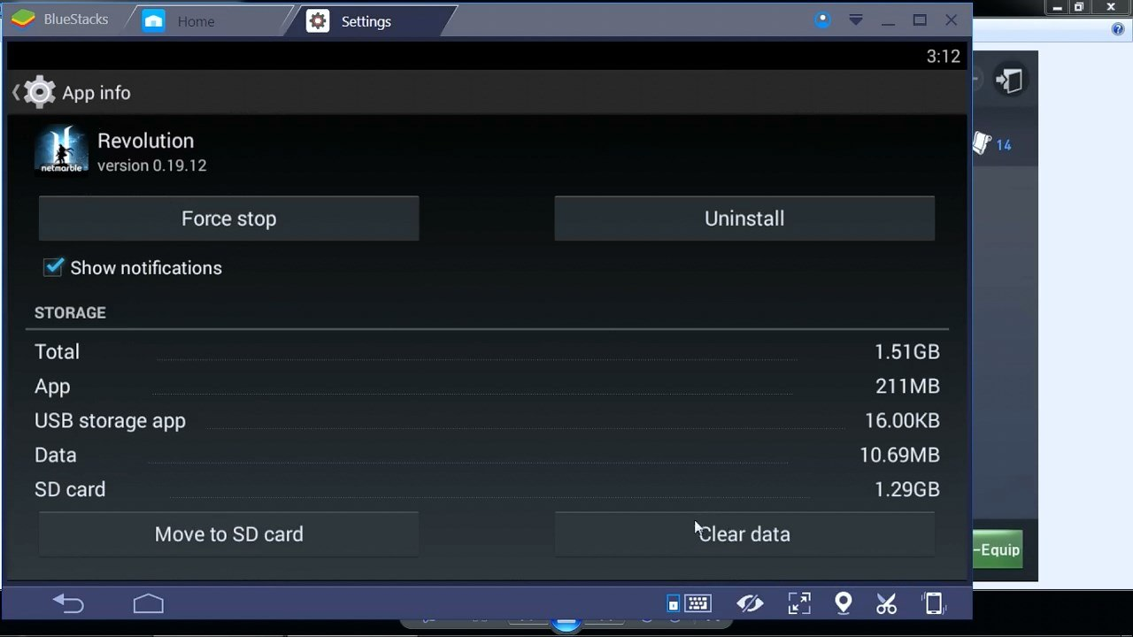 Bluestacks-Settings-Clear-Data