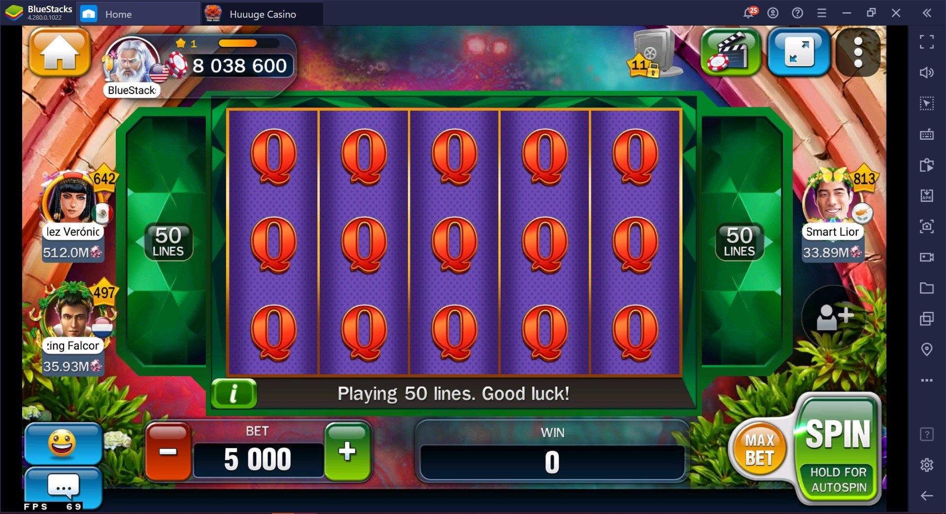 How to play Huuuge Casino Slots on PC with BlueStacks