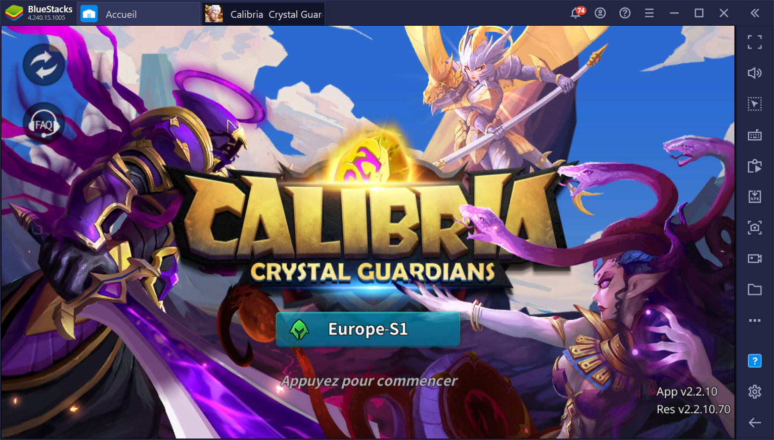 Comment jouer à Calibria : Crystal Guardians sur PC avec BlueStacks