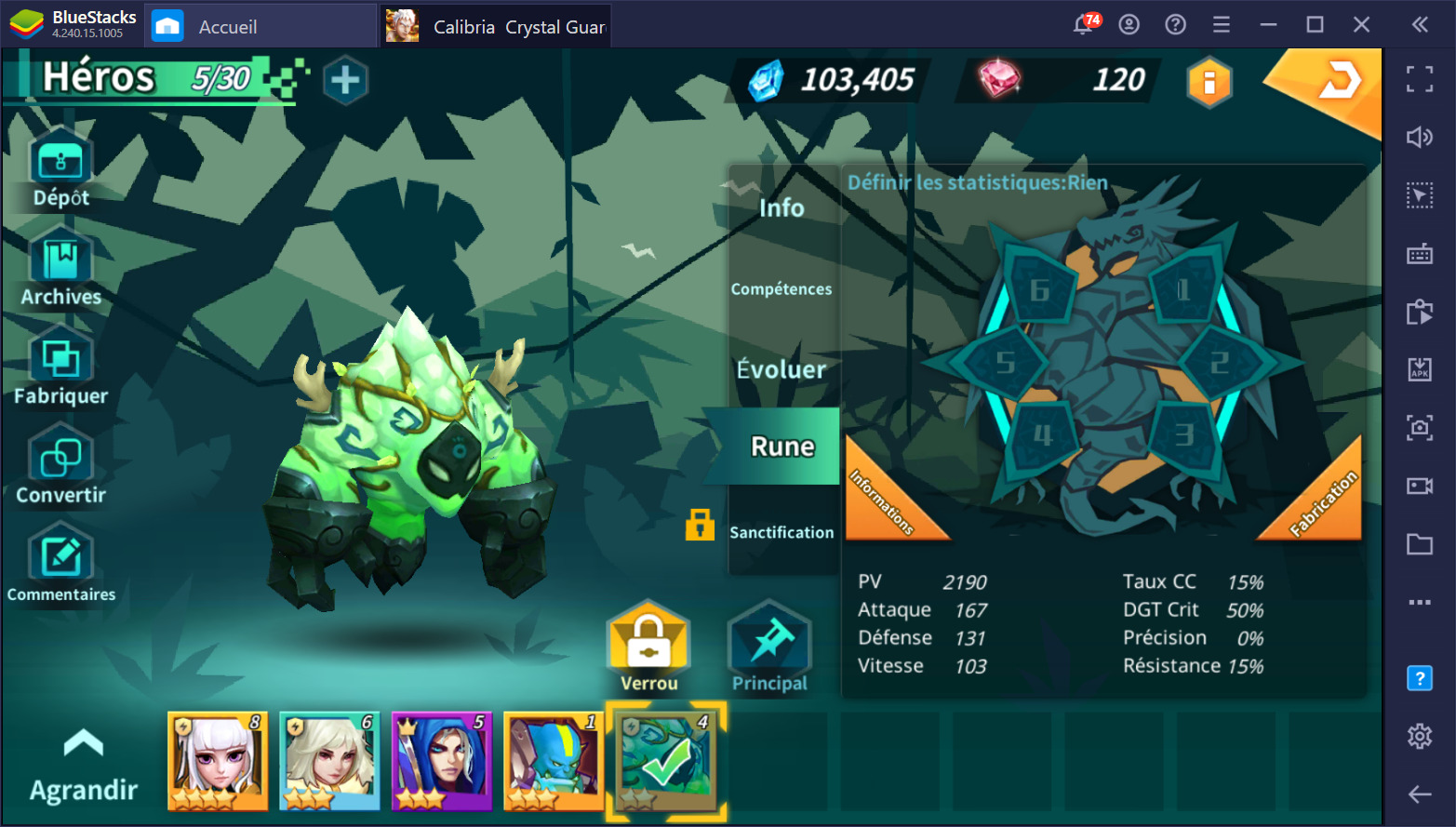 Calibria: Crystal Guardians – les meilleurs héros 5 étoiles du jeu