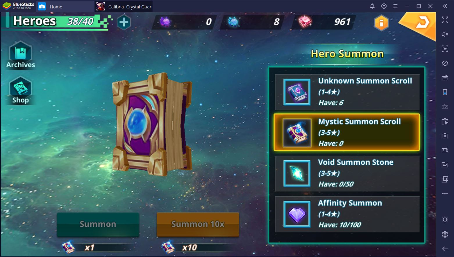 How to Play Calibria: Crystal Guardians on PC with BlueStacks