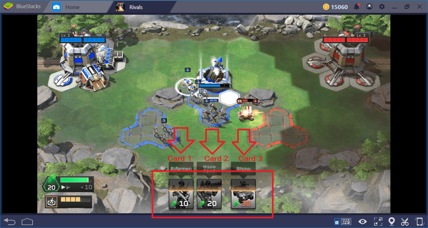 Command & Conquer: Rivals PVP – Customize Controls using BlueStacks