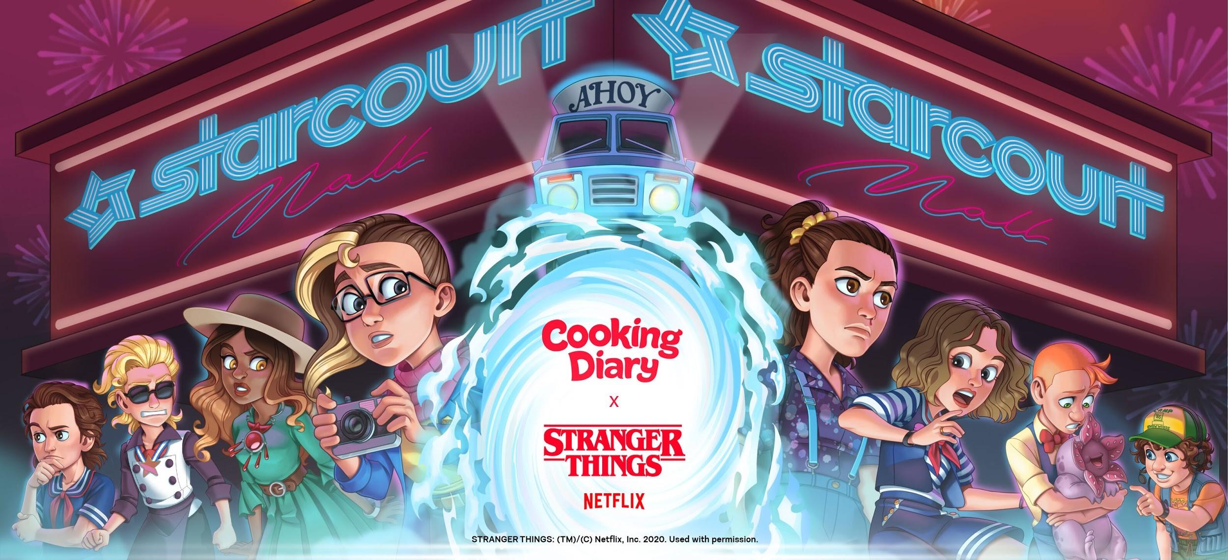 A Nice Halloween Surprise: Cooking Diary & Stranger Things Partnership