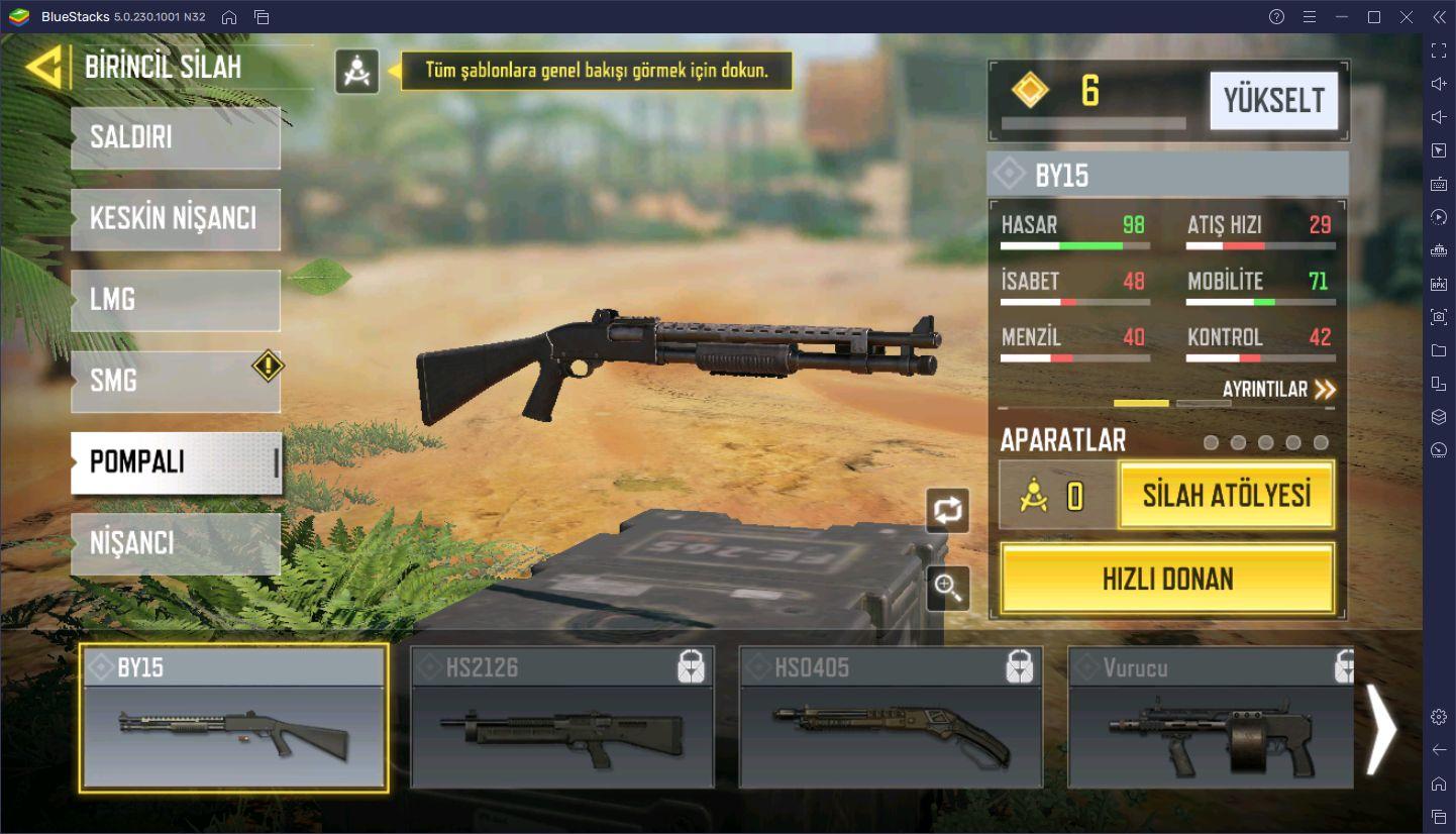 Call of Duty Mobile Battle Royale Silah Rehberi