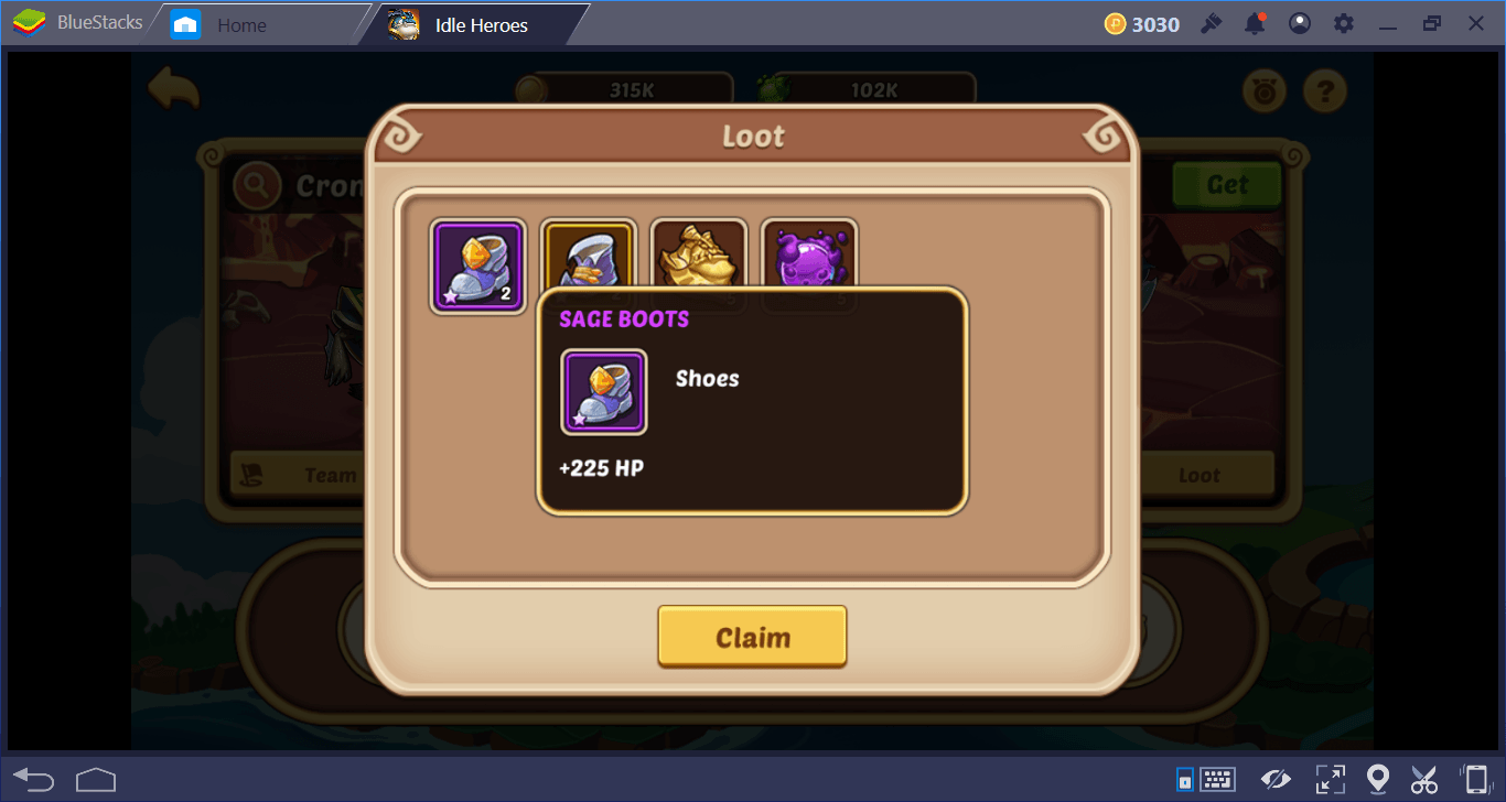 how to get all stage loot idle heros