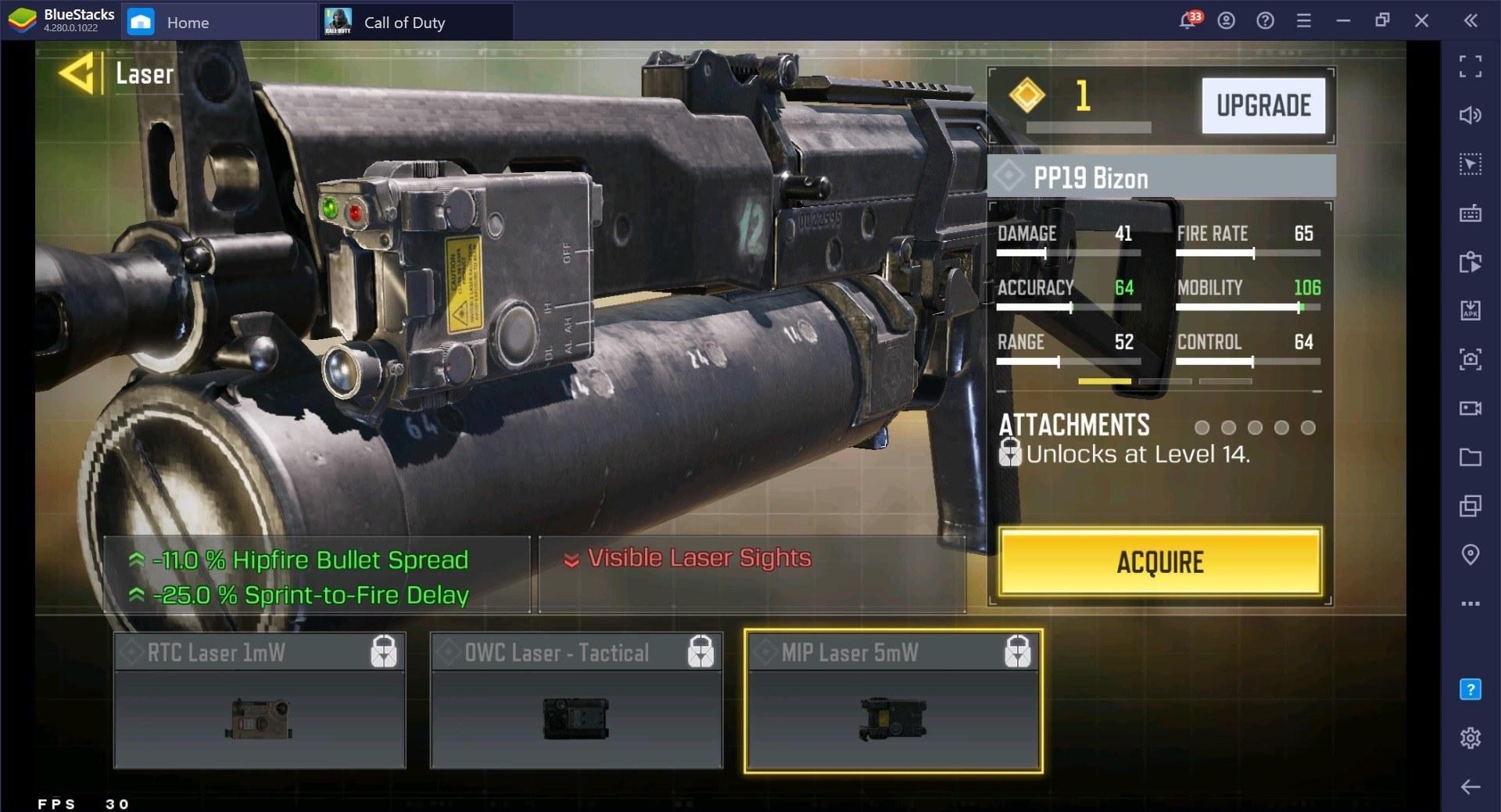 Call of Duty: Mobile Season 3 PP19 Bizon Gunsmith and Loadout Guide