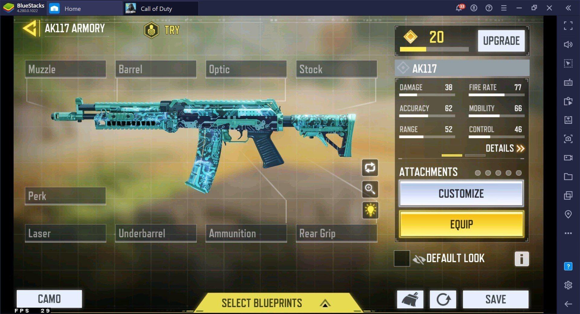 لعبة Call of Duty: Mobile الموسم الرابع دليل السلاح لألعاب Battle Royale