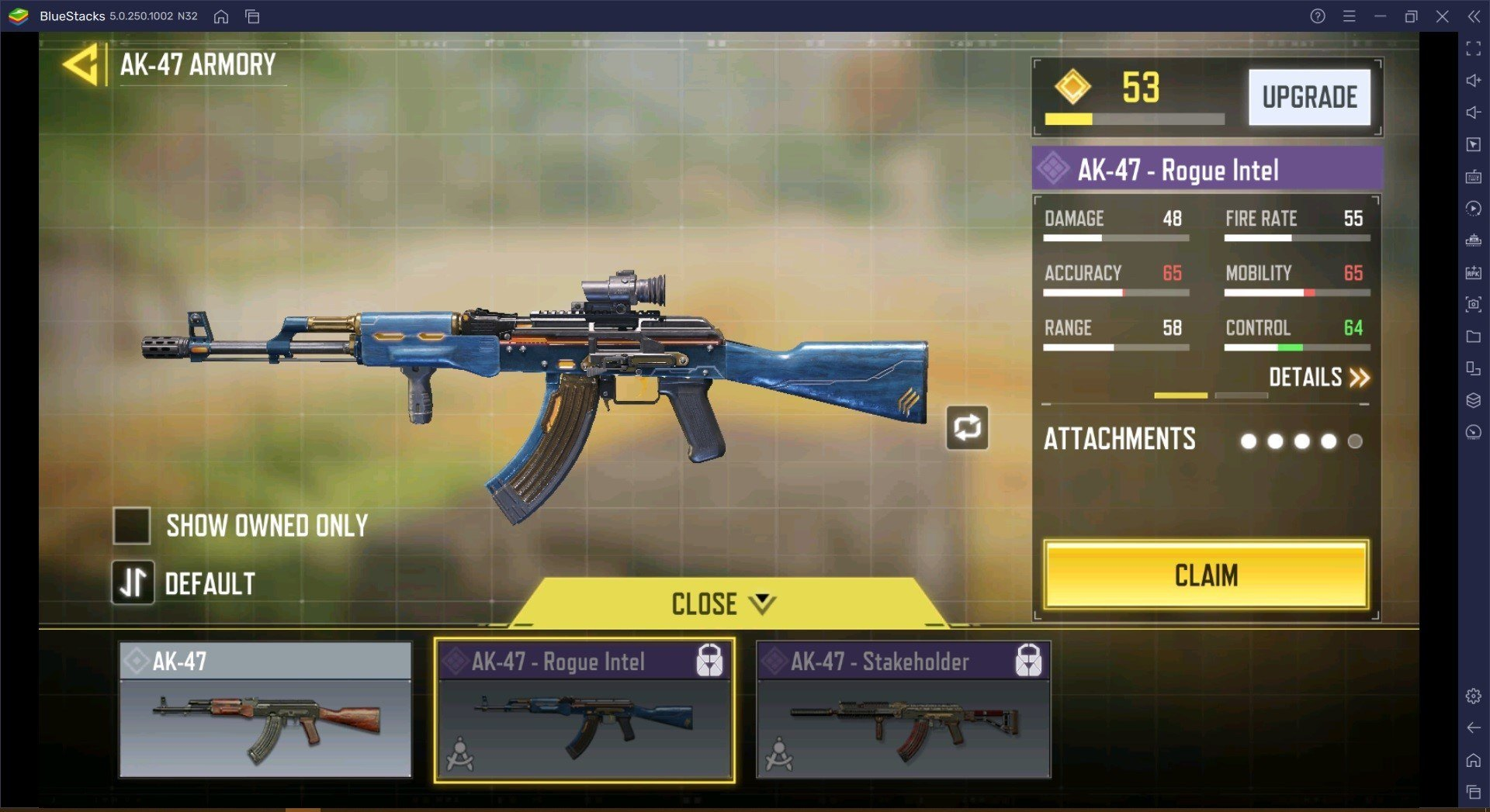 دليل الأسلحة في لعبة Call of Duty Mobile ، يذهب AK-47 إلى صانع السلاح