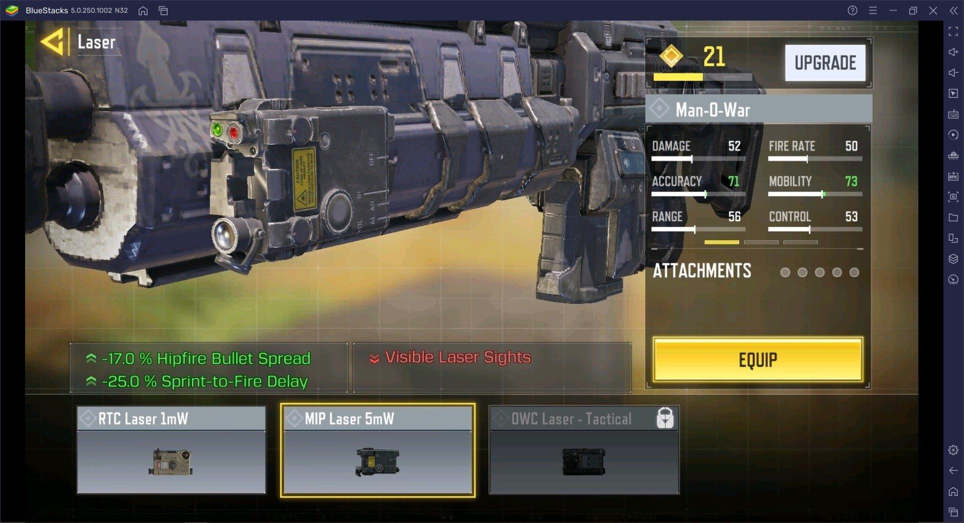 دليل سلاح Man-O-War  في لعبة Call of Duty: Mobile للموسم الخامس