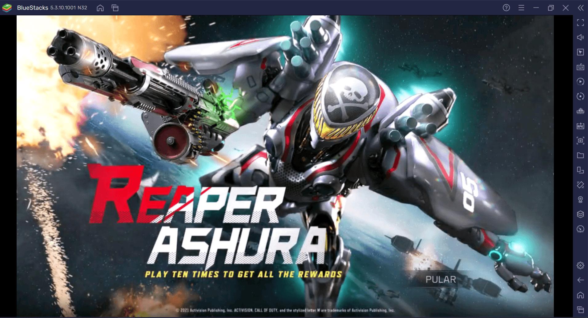 Como obter a skin lendária de Reaper-Ashura em Call of Duty: Mobile