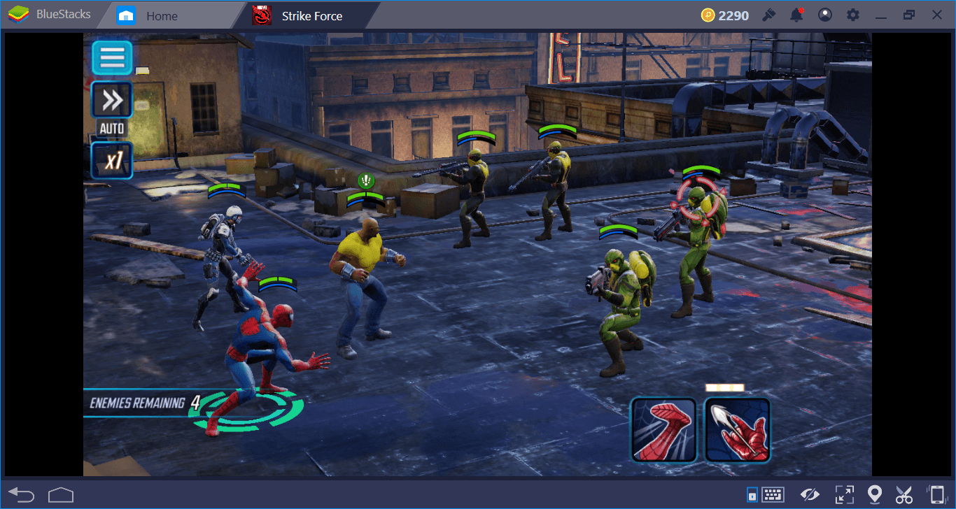 MARVEL Strike Force Combat System and Status Effects | Bluestacks