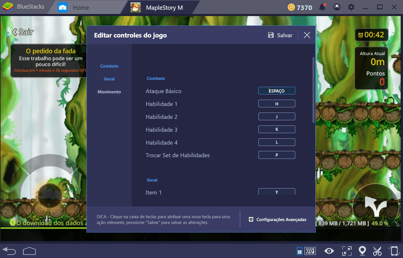 Combo Key em BlueStacks 4.2 – Grave e reproduza uma ação com apenas uma tecla.