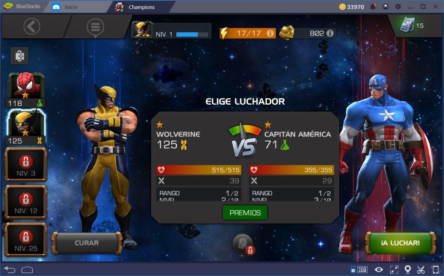 Guía Para Para Dar Golpizas y Ganar Peleas en Marvel Contest of Champions