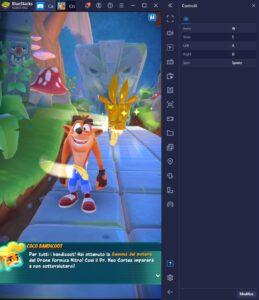 Come giocare Crash Bandicoot: On the Run su PC con BlueStacks