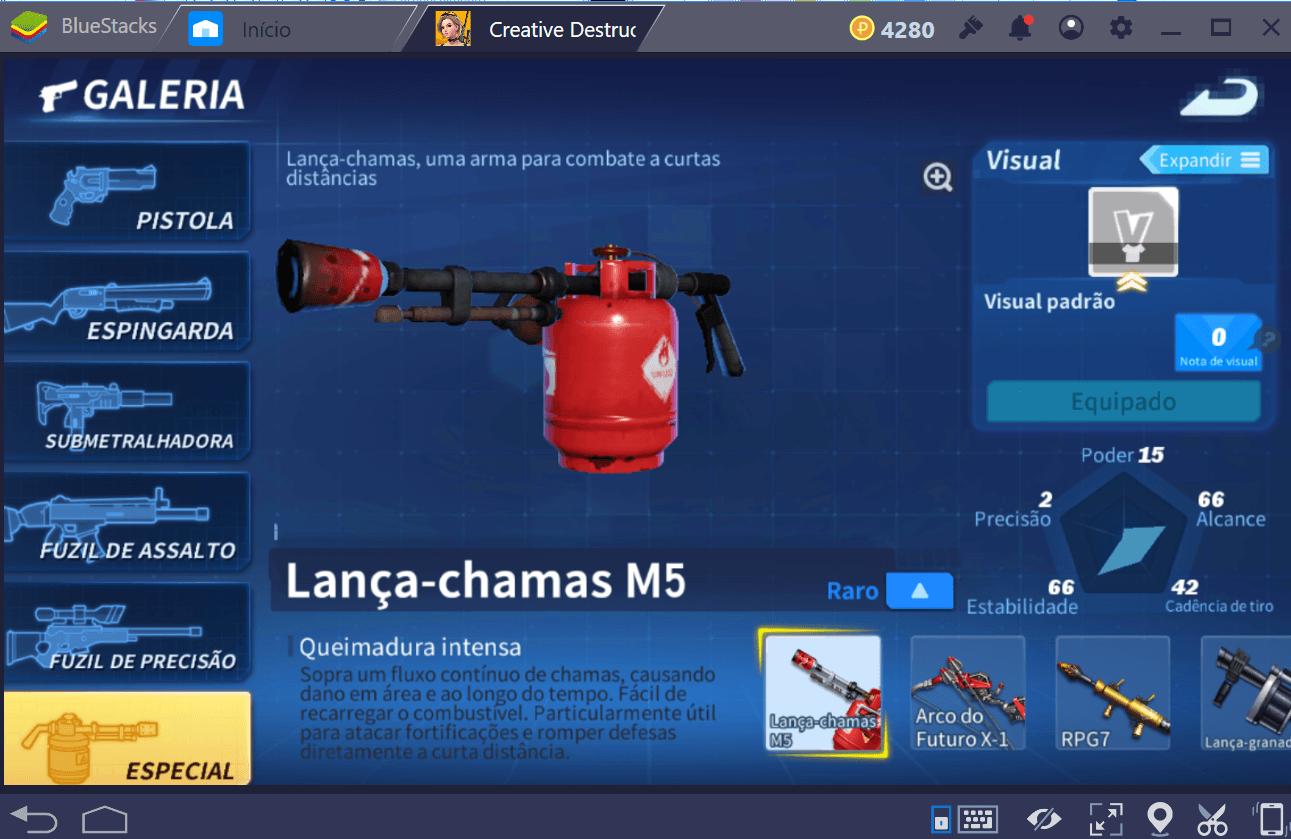As melhores armas em Creative Destruction