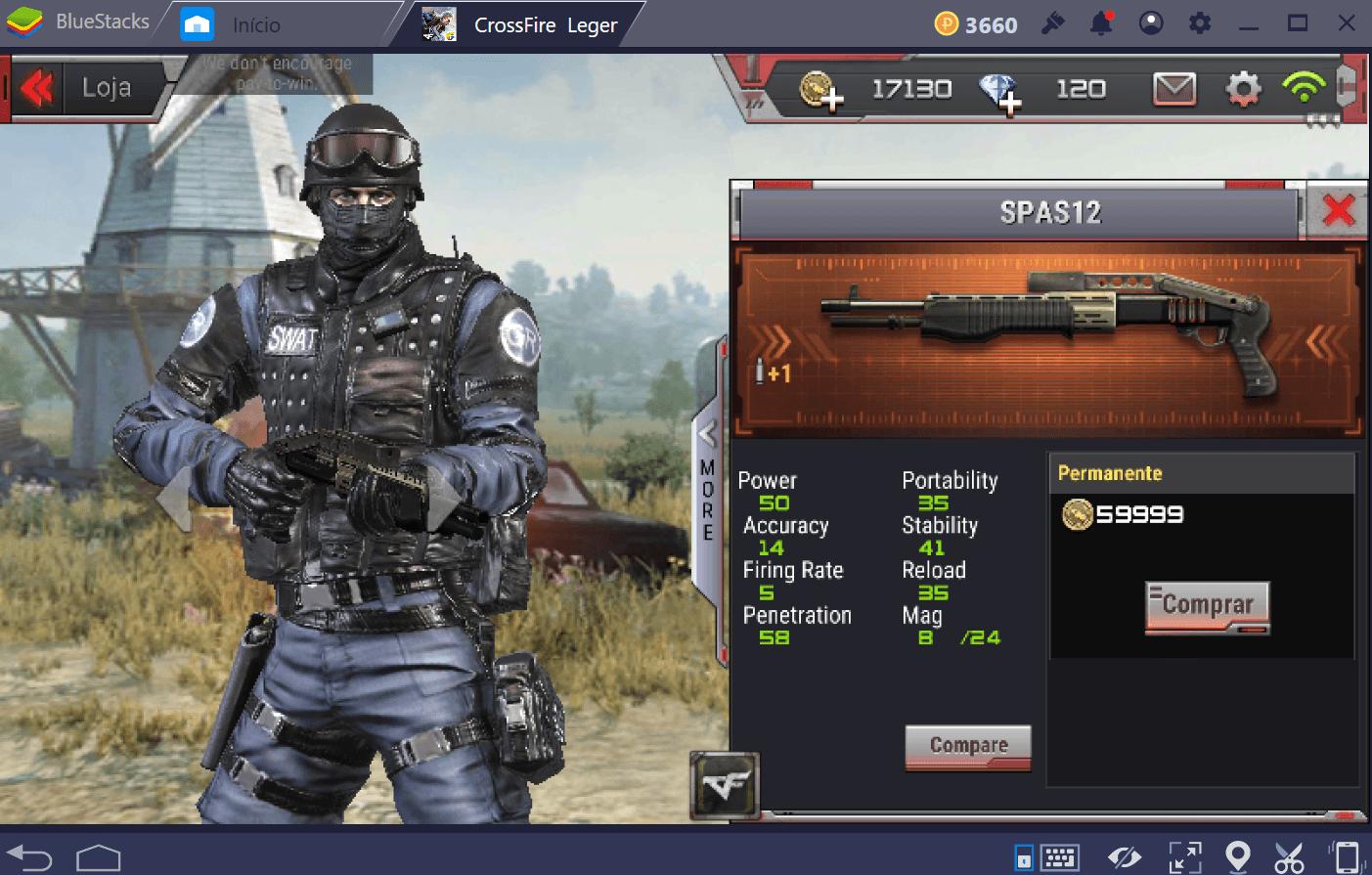 Guia de armas e equipamentos em CrossFire: Legends