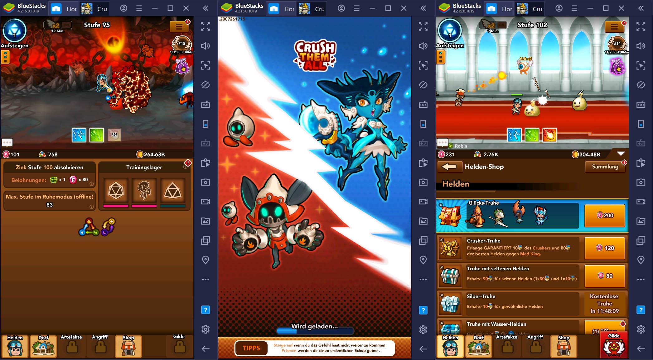 Crush Them All auf dem PC – Erste Schritte in diesem fantastischen Idle Game