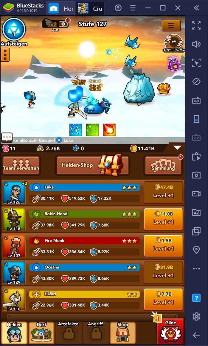 Crush Them All auf dem PC – Die besten Tipps und Tricks, um in diesem Idle Game zu gewinnen