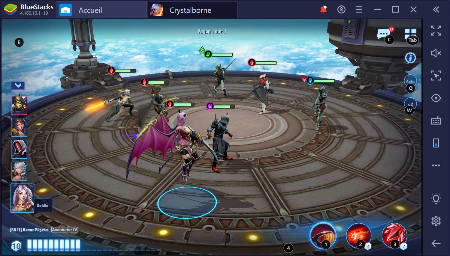 Comment gagner dans Crystalborne Heroes of Fate sur PC avec BlueStacks