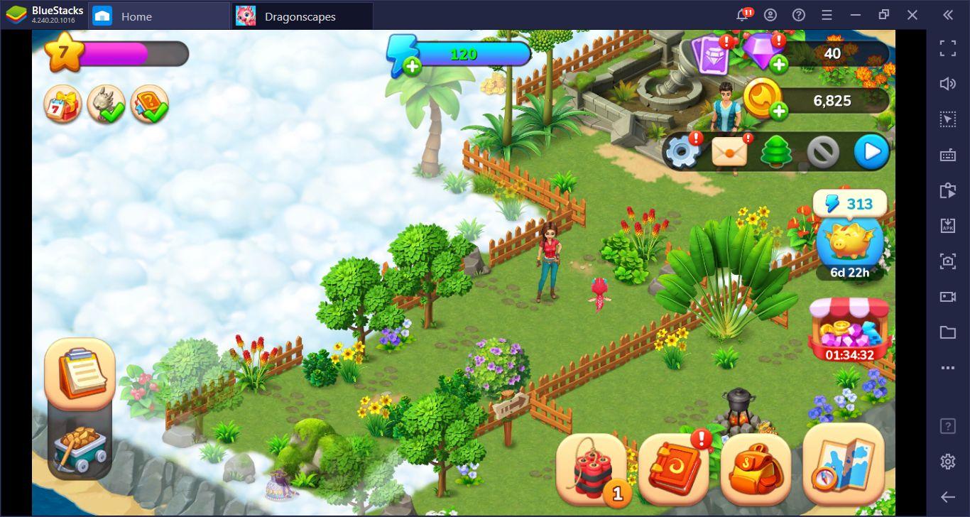 دليل إعداد لعبة Dragonscapes: Adventure – انقاذ التنانين واستكشاف الجزر باستخدام محاكي BlueStacks