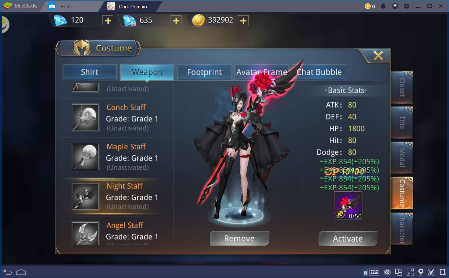 Take Over the World of Dark Domain with BlueStacks