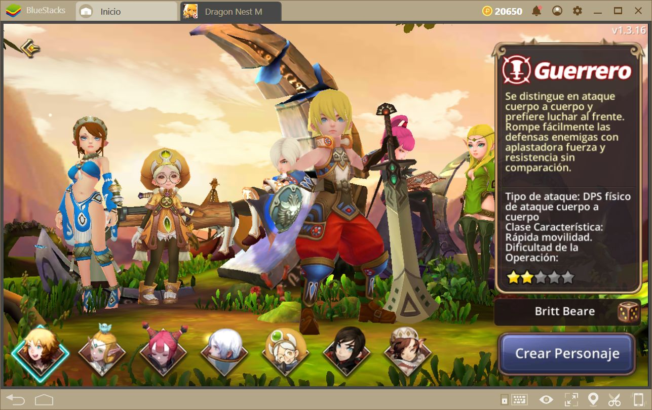 Guía Para las Clases en Dragon Nest M